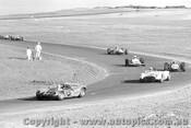 71473 - C. Occhipinti Elfin Mallala / R. Heales Lotus 23 / R. Punch Elfin Mono / R. Nissen Nissen / F. Curcio Rennmax - Phillip Island 16th May 1971 - Photographer Peter D  Abbs
