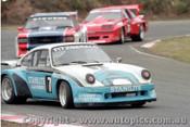 84043 - Peter Fitzgerald Porsche / Bob Stevens Holden Monaro / Neil Brain Monza - Amaroo Park 20th May 1984 - Photographer Lance  Ruting.