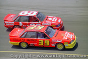 88063 - Mark Smedley & Rod Macleod  Holden Commodore - The first meeting at the  Calder Park Thunderdome  February 1988 - Photographer Darren House