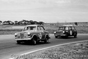 63012 - B. Sampson Austin Lancer & P. Manton Morris Mini Cooper - Calder 24th Feb. 1963 - Photographer Peter D Abbs