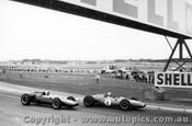 63533 - Jack Brabham  & Bruce McLaren Cooper- Sandown International -  11th  March 1963 - Photographer Peter D Abbs