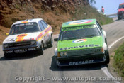 80772 - Bob Holden / D. Earle Ford Escort 1m6GL & Bob Morris / B. O Brien  Ford Falcon XD - Bathurst 1980 - Photographer Lance J Ruting