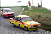 76803 - L. Arnel / P. Hopwood Ford Escort RS2000 & B. Williamson / G. Cooke Mazda RX3 -  Bathurst 1976 - Photographer Lance J Ruting