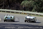 65452a - D. Macarthur and L. Davis  Austin Healey Sprite  -  Warwick Farm May 1965  - Photographer Richard Austin