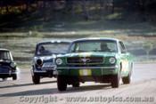 66047 -  B. Thomson Ford Mustang / J. McKeown Lotus Cortina / B. Foley Morris Cooper S -  Lakeside 1966 - Photographer John Stanley
