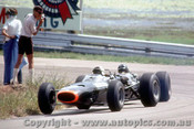 66564 - R. Attwood & G. Hill - BRM -  Tasman Series  Lakeside 1966 - Photographer John Stanley