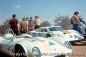 68467 - D. Moline Elfin Streamline /  G. Wood Brolga - Oran Park 1968