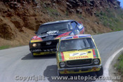 79766  - Mark Thatcher / Kiyoshi Misaki Toyota Corolla - A. Moffat / J. Fitzpatrick  Ford Falcon XC -  Bathurst 1979 - Photographer Lance Ruting