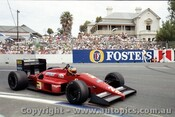87504 - Michele Alboreto Ferrari F187 - AGP Adelaide 1987 - Photographer Darren House