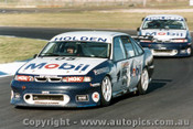 96011 - Peter Brock  / Craig Lowndes Holden Commodore VR - Calder  1996 - Photographer Darren House