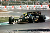 85507 - Ayton Senna Lotus 97T - AGP Adelaide 1985 - Photographer Darren House