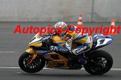 206327 - Troy Corser Suzuki  - Superbikes Sachsenring Germany 2006 - Photographer Mike Jordon