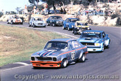 76055 - Brian Potts Torana V8 /  Bob Stevens Ford Mustang / P. Gulson Morris Mini - Amaroo 7th March 1976 - Photographer Lance  Ruting.