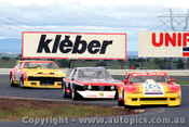 82040 - B. Jane Chev Monza / T. Edmondson Alfetta  V8 / J. Richards Ford Falcon - Calder 1982 - Photographer  Peter D Abbs