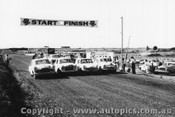 61005 - L. Brennan Zephyr / R. Gilchrist Morris Major / P. Coffey Anglia / L. Darcy Simca  -  Phillip Island 13/4/61 - Photographer Peter D Abbs