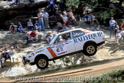 79954a - Frank Neale  /  Phil Dodd - Mitsubishi Lancer - Southern Cross Rally Port Macquarie 1979- Photographer Lance Ruting
