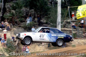 79955a - Gary Mecak  / Chris Edwards  Mazda RX2 - Southern Cross Rally Port Macquarie 1979- Photographer Lance Ruting