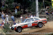 79956a - Gary Meehan  / Greg Gifford - Toyota Celica - Southern Cross Rally Port Macquarie 1979- Photographer Lance Ruting