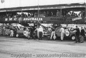 60747 - #40 -  P. Gurdon - C. Miller - D. Biggar - #38 - G. Spanos - L. Taylor - G. Fayers - Austin Lancer - Phillip Island - 20th November 1960 - Photographer Peter D Abbs