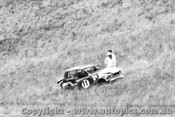 69787 - Bruce Darke / Dennis Cooke - What was lft of their Datsun 1600 - Bathurst 1969 - Photographer Lance J Ruting