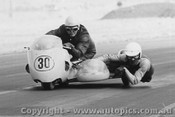 71317 - S. Bayliss - passenger  Don Blair - 750cc Bayliss Special - 1971 - Phillip Island - Photographer Peter D Abbs