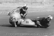 71318 - L. Urquhart - passenger  J Craig - 730cc Walton Honda - 1971 - Phillip Island - Photographer Peter D Abbs