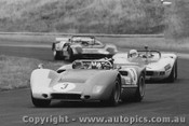 71491 - J Harvey - McLaren - L Ayres - MRC Repco - H Sangster - Matich - 12/1/1971 - Phillip Island - Photographer Peter D Abbs