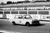 64063 - John Reaburn & Geoff Russell  Ford Cortina GT - Sandown 6 Hour International  29th November 1964  - Photographer  Peter D Abbs