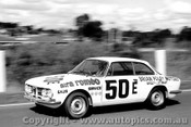 68203 - B. Foley / L. Stewart  Alfa Romeo 1750 GTV - Three Hour Trophy Race - Sandown 15th Septemberl 1968 - Photographer Peter D Abbs