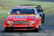 81036 - Joseph Beninca - Alfetta GTV - Sandown 1981 - Photographer Peter D Abbs
