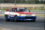 91015 - J. Richards  Nissan GTR - Sandown 1991 - Photographer Peter D Abbs