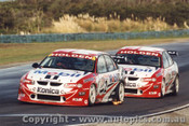 99220 - M. Skaife / C. Lowndes  Holden Commodore VT -  Phillip Island 1999 - Photographer Darren House