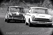 67084 - C. Brauer Lotus Cortina / T. Meehan Morris Cooper S - Warwick Farm 3rd December 1967  - Photographer Lance J Ruting