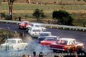 68213 - B. Foley Morris Cooper S / I. Geoghegan / N. Allen Ford Mustang / D. Smith Holden / B. Lawler Falcon V8 / G. Ryan Holden EH / R. Martin Cortina - Bathurst - 15th April 1968 - Photographer Bruce Buckley