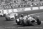 72443 - G. Buckingham  Welsor Clubman / J. Turner Lotus Super 7 - 17th August 1972 - Oran Park - Photographer Lance J Ruting