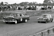 64076 -  T. Anderson Ford Customline / L. Schebel Morris Cooper S - Catalina Park Katoomba 1964  - Photographer  Lance J Ruting