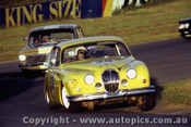 82061 - Lynne Brown Jaguar MK2 - Oran Park 1982 - Photographer   Lance J Ruting