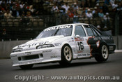 90015 -  Win Percy  HRT Commodore VL -  Adelaide 1990 - Photographer Darren House