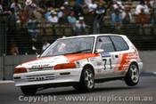 90016 - J. Faulkner / N. Bates Toyota Corolla -  Adelaide 1990 - Photographer Darren House