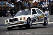 90017 - P. Ward / J. Goss Mercedes 190E -  Adelaide 1990 - Photographer Darren House