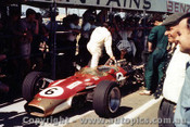 68590 - Jim Clark - Lotus - Tasman Series - Warwick Farm - 1968 - Photographer - Brian Tobin