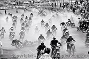 70304 - The Start of the Castrol Six Hour - 68 Bike Le Mans Start was marred by a pile-up - Amaroo 18th October 1970 - Photographer Lance J Ruting