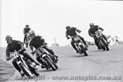 70310 - Laurie Alderton / Dennis Alderton  Kawasaki H1 500  - Jack Forrest / Bob Presley / Geoff Lucus  BMW 750   - Castrol Six Hour - Amaroo 18th October 1970 - Photographer Lance J Ruting