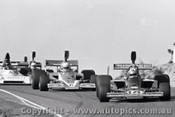 74636 - G. Lawrence  Lola T332 / M. Stewart Lola T330 / J. McCormack Elfin ME6-Leyland - Amaroo 18th August 1974  - Photographer Lance Ruting