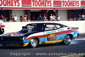 91902 - Ben Gatt  Quaker State Ford Falcon - Eastern Creek Drags 1991_ Photographer Lance J Ruting