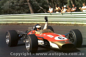 68594 - Jim Clark - Lotus 49 - Tasman Series - Warwick Farm - 1968 - Photographer  David Blanch