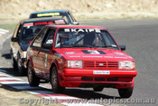 85034 - Mark Skaife Ford Laser - Amaroo 7th April 1985 - Photographer Lance J Ruting