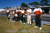 91022 - J. Richards  & Fred Gibson and the Nissan GTR team - Sandown 1991 - Photographer Ray Simpson