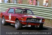 67087 - Bob Jane  Ford Mustang - Warwick Farm 1967 - Photographer Adrien Schagen