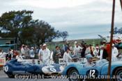 58446 - R. Phillips Cooper Jaguar  & C. Whatmore Lotus Climax - Bathurst 1958 - Photographer Adrien Schagen